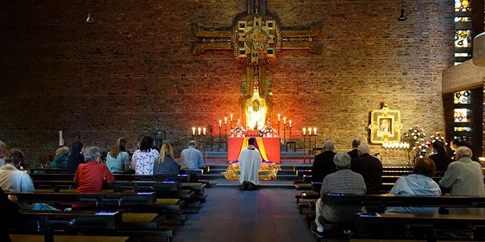 Gebetszeit am Vorabend des Todestages von Pater Josef Kentenich (Foto: Sr. Marita Zell)