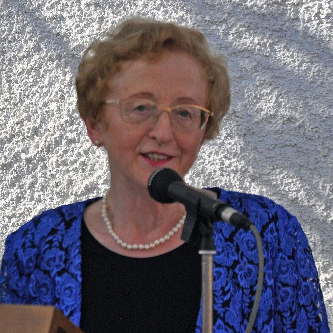 Die Generaloberin der Frauen von Schönstatt, Dr. Gertrud Pollak, dankt allen Mitwirkenden des Festes (Foto: Baumann)