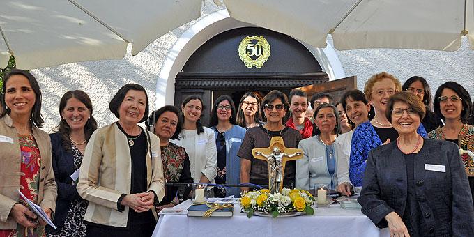 Frauen von Schönstatt aus Lateinamerika beim Heiligtumsjubiläum in Stuttgart-Freiberg (Foto: Baumann)