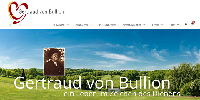 Die neue Gertraud-Homepage (Bildschirmfoto)