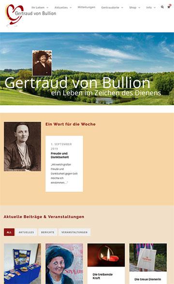 Die neue Gertraud-Homepage ist auch für Mobilgeräte optimiert (Foto: Bildschirmfoto)