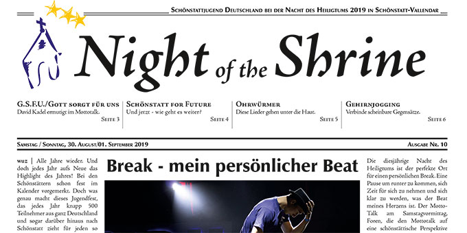 "Ausschnitt der Zeitung ""Night of the Shrine"" Ausgabe 2019 (Grafik: NotS Redaktion)"