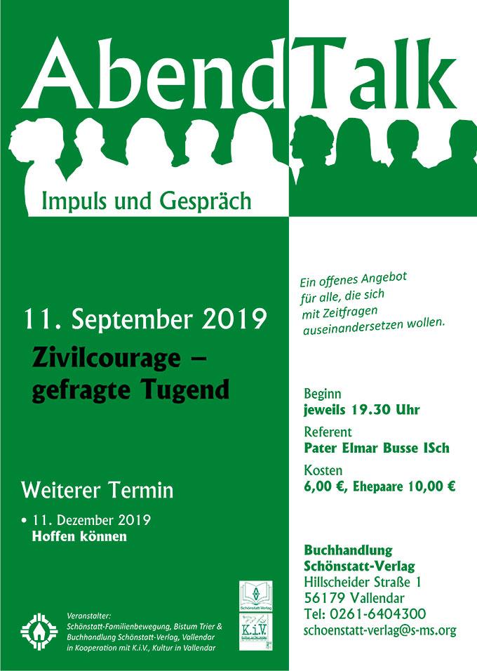 Abendtalk September 2019 (Foto: Plakat)