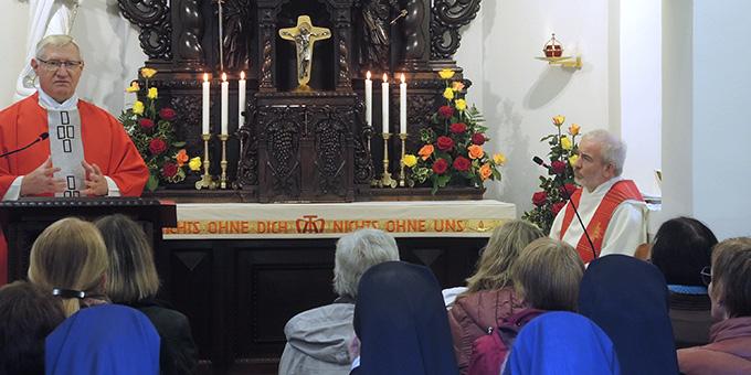 Beim Gottesdienst der Jahreskonferenz im Urheiligtum in Schönstatt, Vallendar (Foto: Zürrlein)