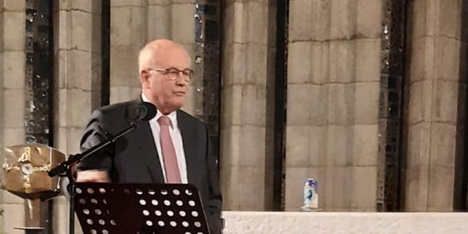 Volker Kauder sprach beim politischen Montagsgebet im Schönstatt-Zentrum Liebfrauenhöhe (Foto: Oberle)
