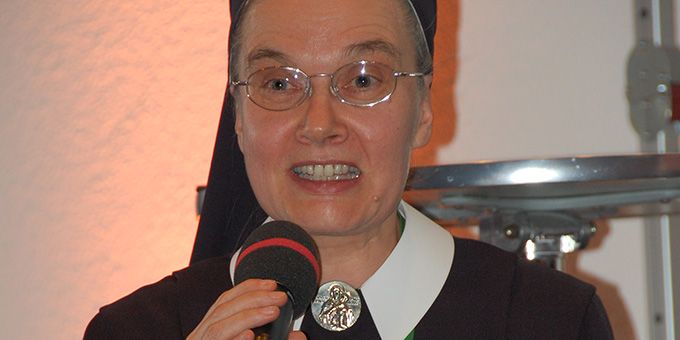 Sie wünsche sich eine marianisch geprägte, Vatergeführte neue Kirche, so Schwester M. Lioba Rupprecht, Schönstätter Marienschwester, Vallendar, Deutschland  (Foto: Brehm)