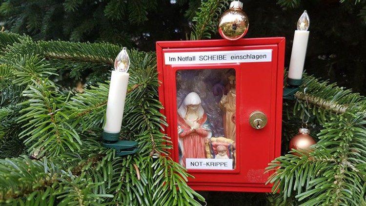 Platz zwei: Die Notfall-Krippe (Foto: Vatican News)