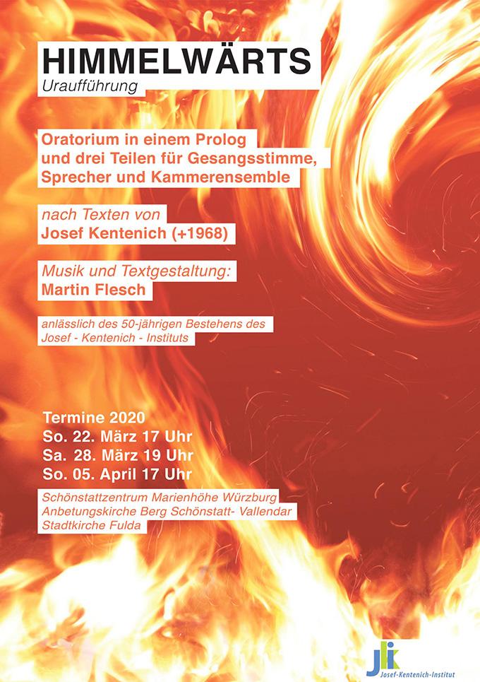 """Oratorium """"HIMMELWÄRTS"""" (Plakat)"""
