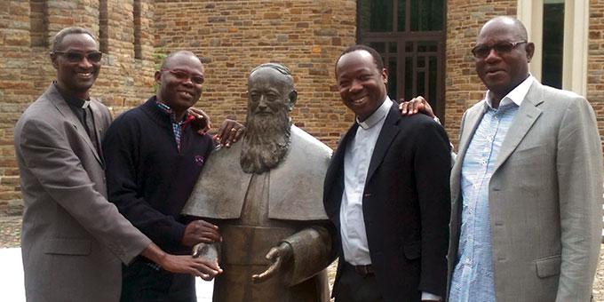 Eine Delegation von Priestern des Schönstatt-Priesterbundes im Tschad war im Herbst in Schönstatt, Vallendar. Unter ihnen der heute neu ernannte Bischof (Foto: Kraft)