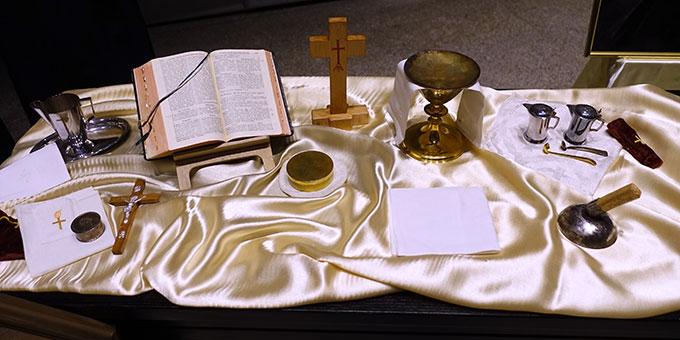 ... sind stumme Zeugen für das Apostolat von Fritz-Josef Hillebrand (Foto: Schw. M. Maritta Zell)