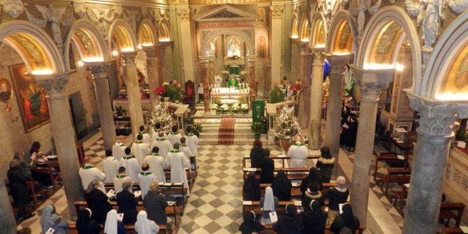 Die Kirche der Pallottiner in der Kirche SS. Salvatore in Onda  mit dem Grab des hl. Vinzenz Pallotti (Foto: UAC)