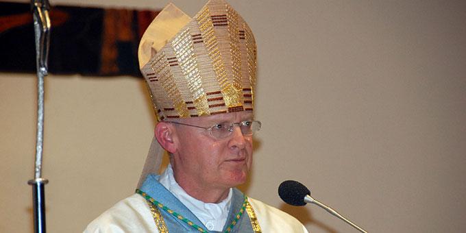 Der Essener Bischof Franz-Josef Overbeck predigte am Bündnistag im Januar 2020 in der Pilgerkirche in Schönstatt, Vallendar (Foto: Brehm)