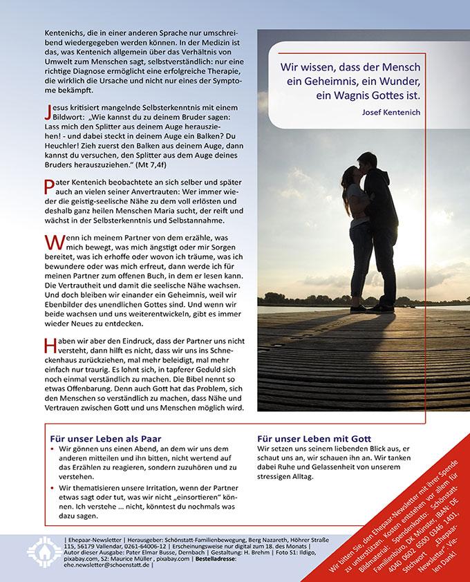 "Ehepaar-Newsletter 01/2020 ""Wir zwei - Immer wieder neu"" (Foto: Maurice Müller, pixabay.com)"