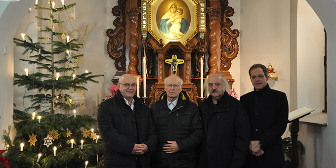 Das Organisationsteam: Franz Bradler, Dieter Köhler, Roland Rast und Pfr. Jörg Simon (Foto: Bradler)