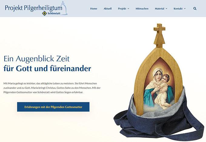 Neue Website des Prrojektes Pilgerheiligtum (Foto: www.pilgerheiligtum.de)