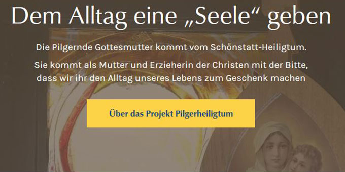 Neue Website des Projektes Pilgerheiligtum