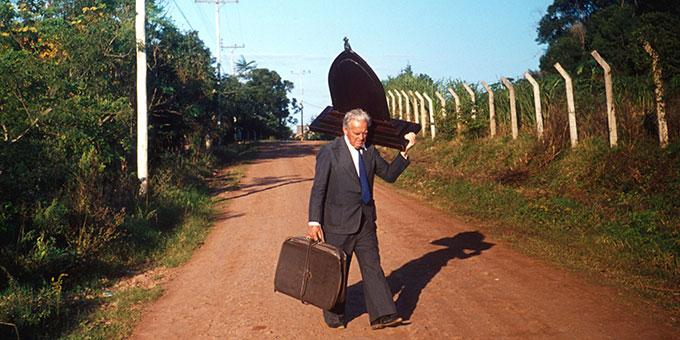 "Diakon João Luiz Pozzobon mit der ""Peregrina"" (Pilgernde) unterwegs  (Foto: Archiv)"