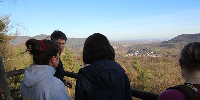Die Aussicht genießen beim JES-Treffen in der Pfalz (Foto: Sarah Busam)
