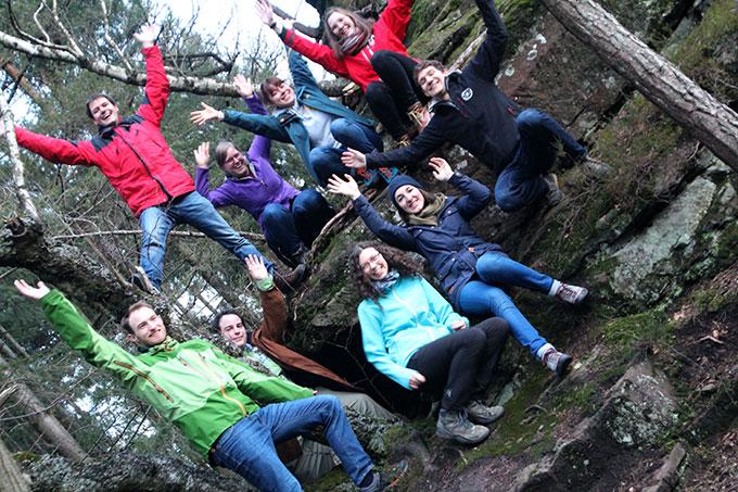 JES-Gruppenbild am Sommerfelsen (Foto: Sarah Busam)