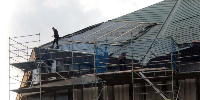 Vor dem nächsten Sturm wurde eine provisorische Reparatur durchgeführt (Foto: S-MS Liebfrauenhöhe)