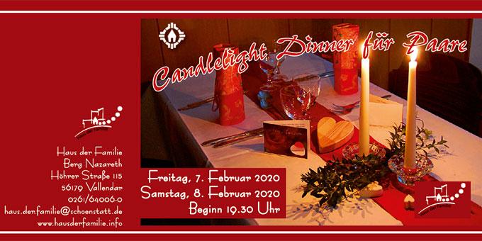 Candlelight-Dinner im Rahmen der MarriageWeek 2020 (Grafik: Brehm)