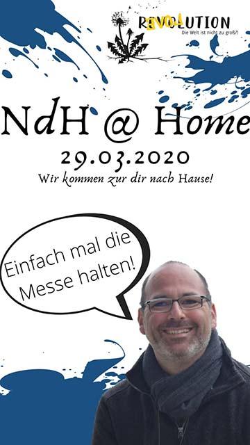 Plakat: Gottesdienst mit NdH-feeling (Foto: NdH)