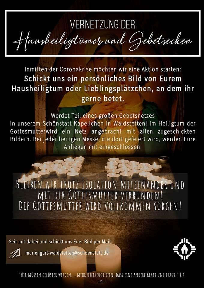 Plakat: Vernetzung (Foto: Schönstatt Waldstetten)