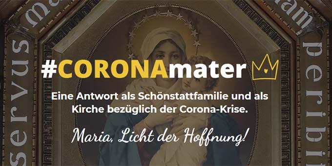Websiteausschnitt #CORONAmater (Foto: schoenstatt-int.com)