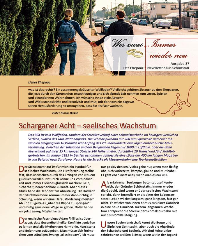 """Ehepaar-Newsletter 03/2020 """"Wir zwei - Immer wieder neu"""" (Foto: Free Fotos, pixabay.com)"""