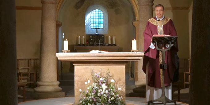 Bischof Michael Gerber in der St. Michaelskirche, Fulda (Foto: Bistum Fulda)