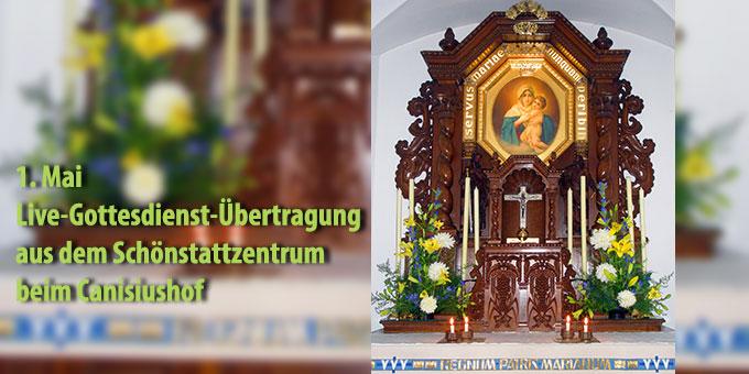 1. Mai: Live-Gottesdienst-Übertragung aus dem Schönstatt-Zentrum beim Canisiushof (Foto: Vögele)