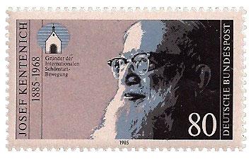 Sondermarke zum 100. Geburtstag von Pater Josef Kentenich (1885-1968) (SCAN: Archiv)