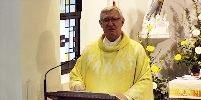 Predigt: Pater Ludwig Güthlein, Leiter der Schönstatt-Bewegung Deutschland (Foto: schoenstatt-tv.de)