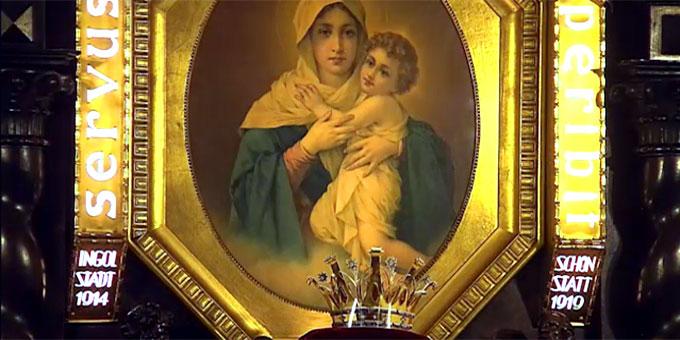 Krone beim Bild der Dreimal Wunderbaren Mutter und Königin von Schönstatt (Foto: schoenstatt-tv.de)