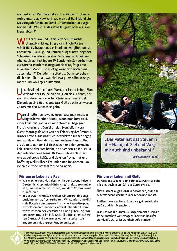 """Ehepaar-Newsletter 04/2020 """"Wir zwei - Immer wieder neu"""" (Foto: Samuel Stonde, pixabay.com)"""