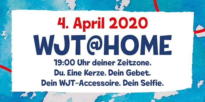 Aktion WJT@home am Samstag 4. April 2020, 19 Uhr (Foto: afj)