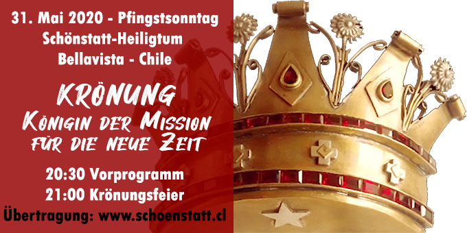 31. Mai 2020 - Pfingstsonntag - Krönungsfeier in Chile (Foto: www.schoenstatt.cl)