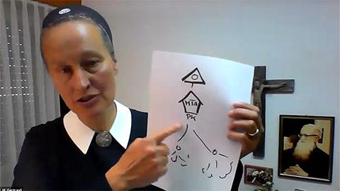 Schwester M. Gertraud Evanzin, Vallendar (Foto: Online-Seminar-Mitschnitt)