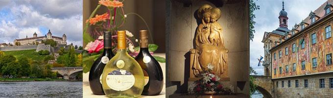 Nicht nur der Wein gehört zu den kulturellen Highlights Frankens (Fotos: pixabay)