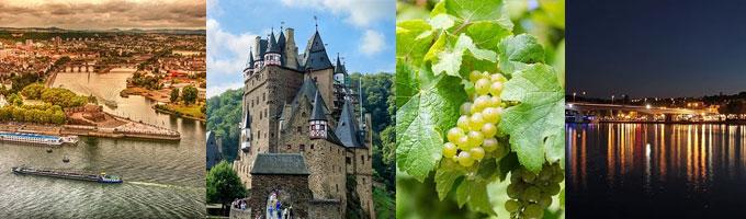 Die Rhein-Moselregion besticht mit Burgen, Flüssen und einer historischen Weinlandschaft (Fotos: pixabay)