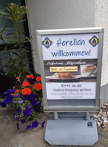 Das Pilgerhaus bietet wieder Nachmittagskaffee an (Foto: Mirjam Metzler)