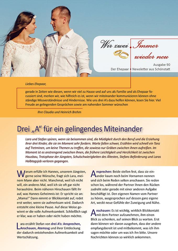 """Ehepaar-Newsletter 06/2020 """"Wir zwei - Immer wieder neu"""" (Foto: adamkontor, pixabay.com)"""