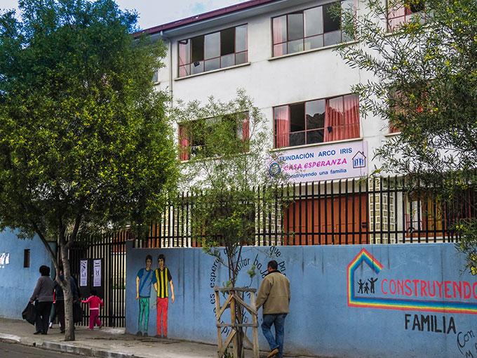 "Das ""Casa Esperanza"" - Haus der Hoffnung - der Fundación Arco Iris (Foto: Förderverein Arco Iris)"