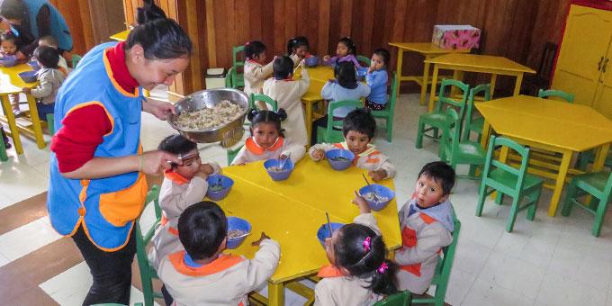 In verschiedenen Häusern werden Kinder und Jugendliche je nach ihren Bedürfnissen gefördert und versorgt (Foto: Förderverein Arco Iris)