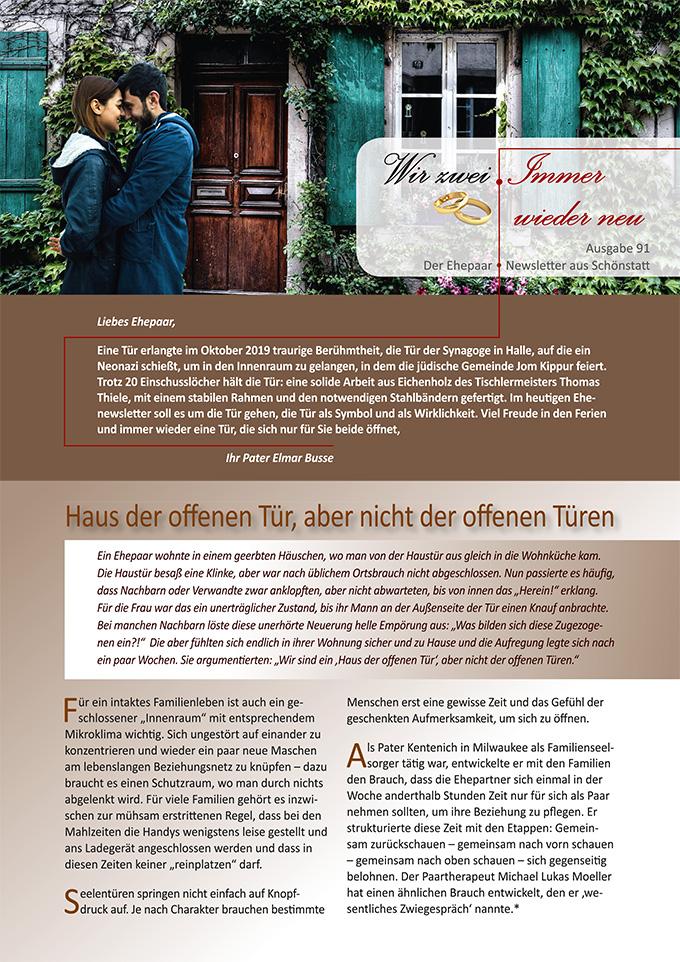 """Ehepaar-Newsletter 07/2020 """"Wir zwei - Immer wieder neu"""" (Foto: TheoRivierenlaan & StockSnap, pixabay.com)"""