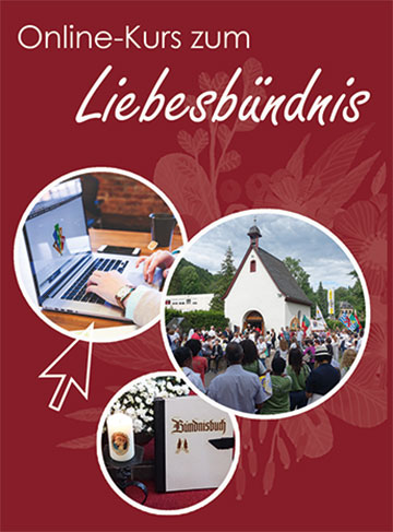 """Flyer zum Online-Kurs """"Liebesbündnis"""" (Fotos und Grafik: Pilgerzentrale)"""