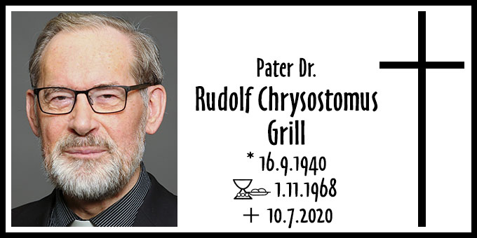 Todesanzeige: Pater Dr. Rudolf Chrysostomus Grill  (Foto: privat)