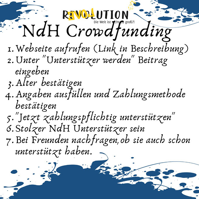 NdH Crowdfunding-Initiative: Anleitung