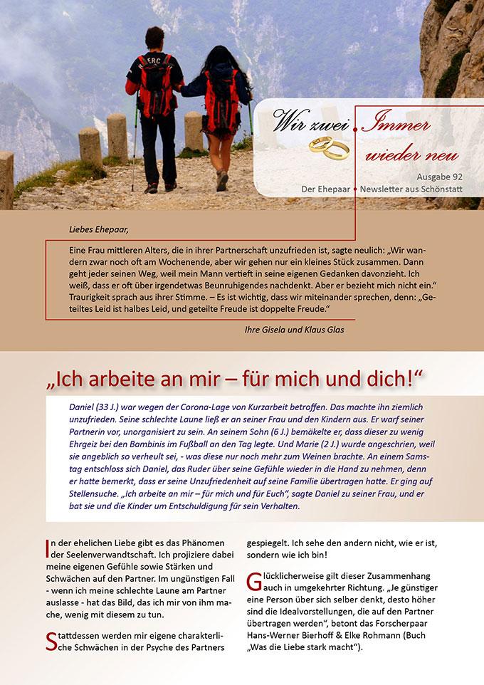 """Ehepaar-Newsletter 08/2020 """"Wir zwei - Immer wieder neu"""" (Foto: Gianni Crestani, pixabay.com)"""
