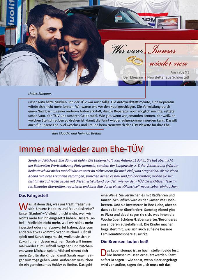 "Ehepaar-Newsletter 09/2020 ""Wir zwei - Immer wieder neu"" (Foto: Michael Kauer, pixabay.com)"